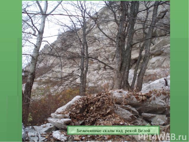 Безымянные скалы над рекой Белой Безымянные скалы над рекой Белой