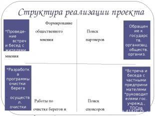 Структура реализации проекта ВВвВВВВВв Формирование общественного Поиск мнения п