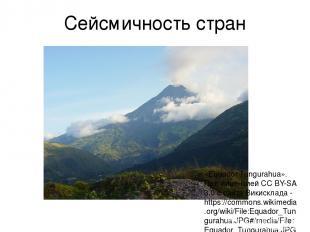 Сейсмичность стран «Equador Tungurahua». Под лицензией CC BY-SA 3.0 с сайта Вики
