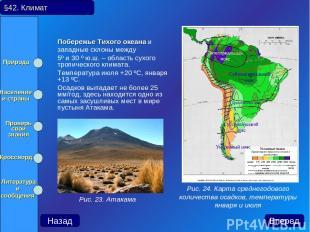 Побережье Тихого океана и западные склоны между 5º и 30 º ю.ш. – область сухого