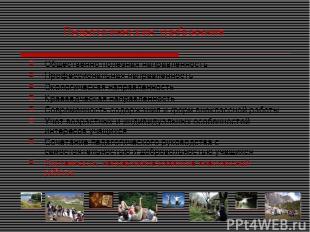 Педагогические требования Общественно полезная направленность Профессиональная н