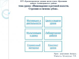 КГУ «Краснокордонская средняя школа отдела образования акимата Алтынсаринского р