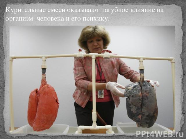 Курительные смеси оказывают пагубное влияние на организмчеловека и его психику.