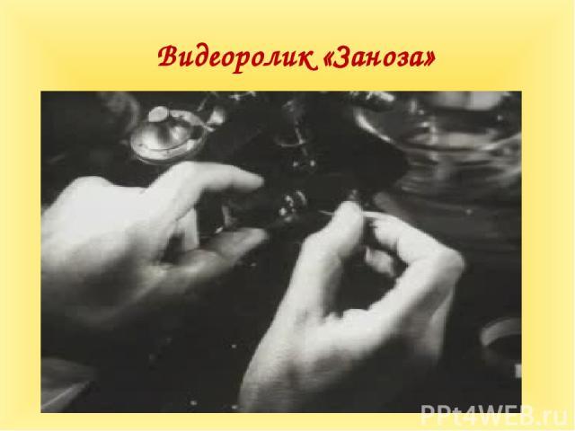 Видеоролик «Заноза»