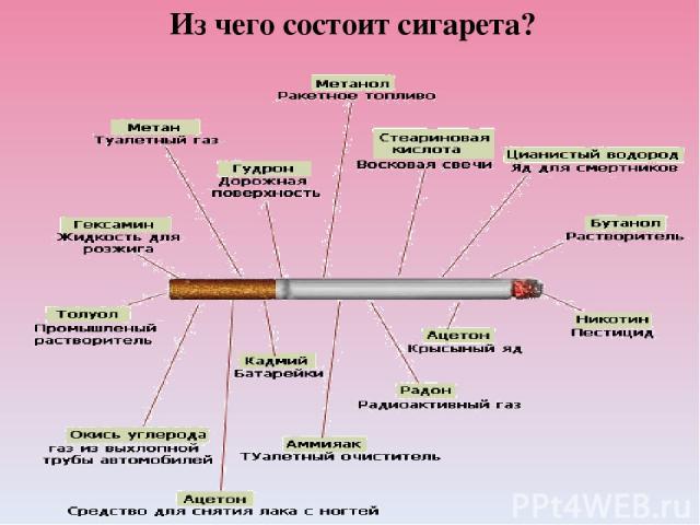 Из чего состоит сигарета?