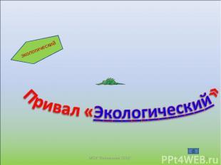 """* МОУ """"Велвинская ООШ"""" экологический МОУ """"Велвинская ООШ"""""""