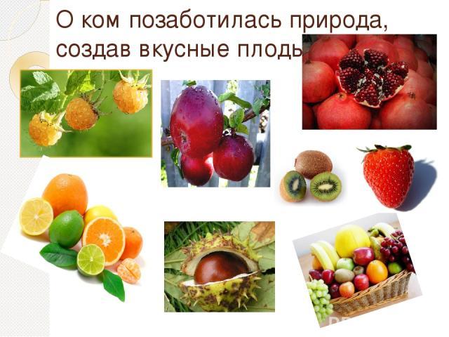 О ком позаботилась природа, создав вкусные плоды?