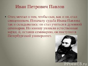 Духовная семинария и Петербургский университет.