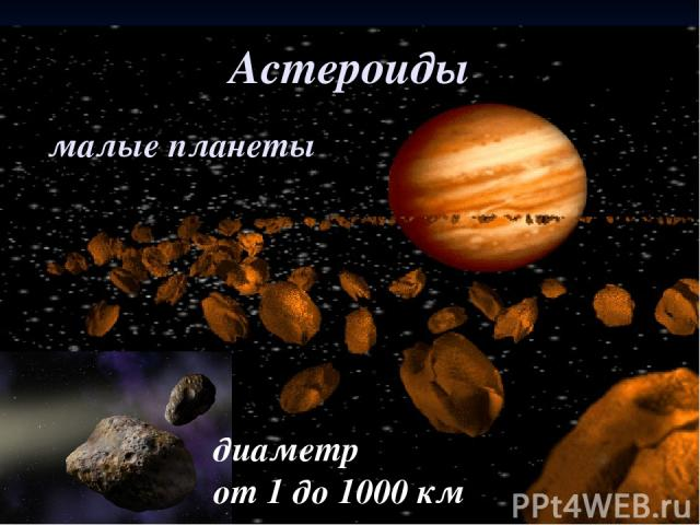 Астероиды малые планеты диаметр от 1 до 1000 км