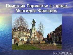 Памятник Пармантье в городе Монгидье /Франция/