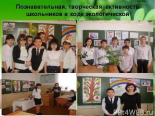 Познавательная, творческая активность школьников в ходе экологической деятельнос