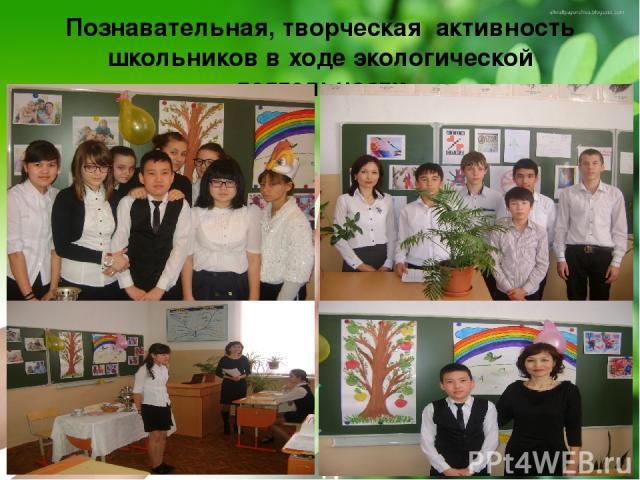 Познавательная, творческая активность школьников в ходе экологической деятельности