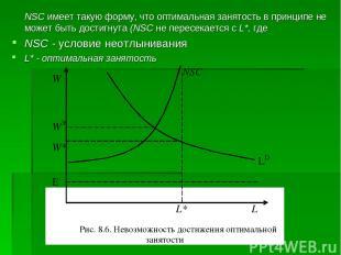 NSC имеет такую форму, что оптимальная занятость в принципе не может быть достиг