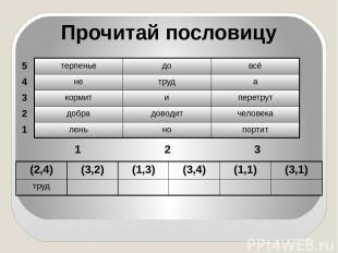 Игра «Почтальон» Инструкция: Тетрадный листочек разорвите на 4 части. На листочк