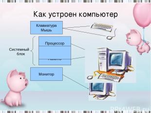 Как компьютер работает с информацией? Клавиатура Мышь Монитор Память Процессор С