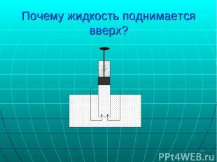 * Почему жидкость поднимается вверх?