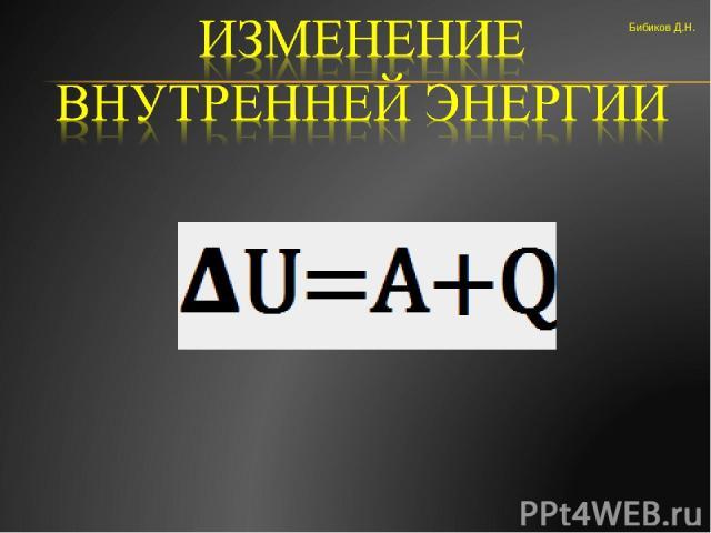 Бибиков Д.Н.