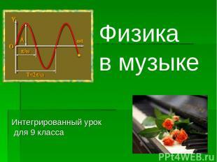 Физика в музыке Интегрированный урок для 9 класса