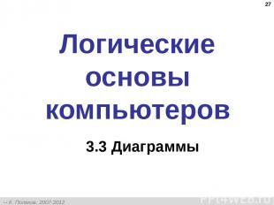 * Логические основы компьютеров 3.3 Диаграммы К. Поляков, 2007-2012 http://kpoly