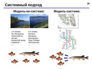 * Системный подход Модель-система: Модель-не-система: 1-я линия: Пр. Ветеранов Л