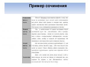 Пример сочинения
