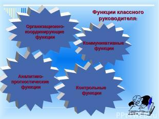 Аналитико- прогностические функции Организационно- координирующие функции Контро