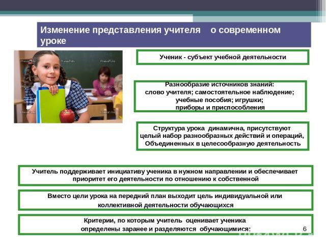 * Ученик - субъект учебной деятельности Разнообразие источников знаний: слово учителя; самостоятельное наблюдение; учебные пособия; игрушки; приборы и приспособления Структура урока динамична, присутствуют целый набор разнообразных действий и операц…