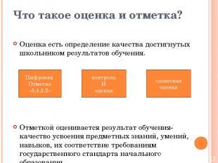Цифровая Отметка «5,4,3,2» Что такое оценка и отметка? Оценка есть определение к