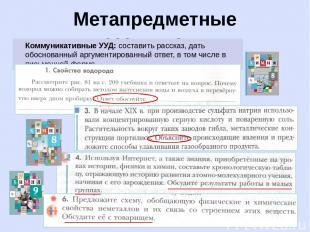 Метапредметные результаты Коммуникативные УУД: составить рассказ, дать обоснован