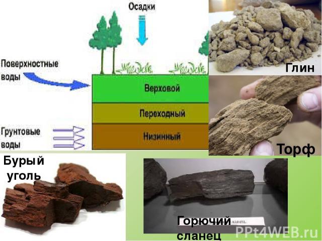 Магматические Глубинные Горные породы Органические Химические Излившиеся Обломочные Осадочные гранит базальт песок, глина, гравий, валуны соли, гипс торф, уголь, мел, известняк Классификация горных пород