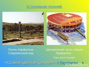 * Центральная часть гавани Карфагена. Совр. реконструкция. Руины Карфагена. Совр
