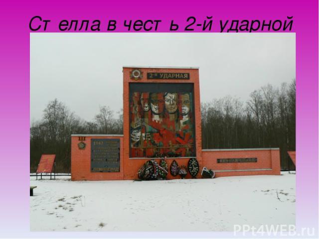 Стелла в честь 2-й ударной армии
