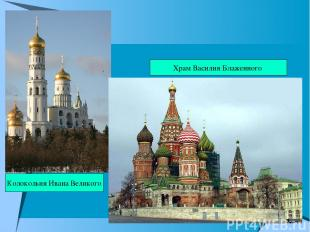 Храм Василия Блаженного Колокольня Ивана Великого