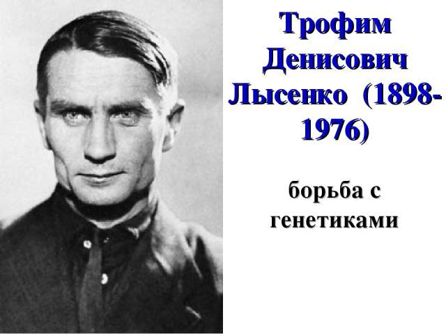 Трофим Денисович Лысенко (1898-1976) борьба с генетиками