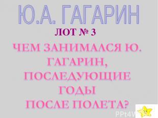 ЛОТ № 3