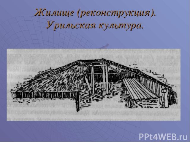 Жилище (реконструкция). Урильская культура.