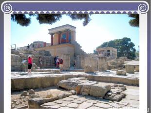 Кносский дворец является замечательным памятником эгейской архитектуры. Лестницы