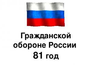Гражданской обороне России 81 год