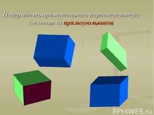 Поверхность прямоугольного параллелепипеда состоит из прямоугольников