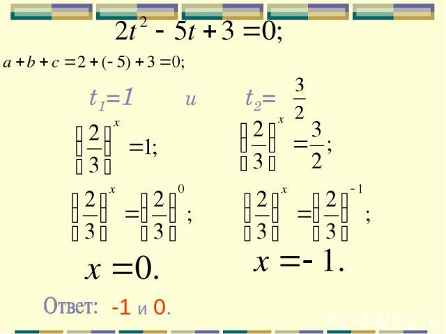 t1=1 t2= и -1 и 0.