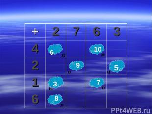 6 10 9 7 8 3 5 ц ы д м о о л + 2 7 6 3 4 2 1 6