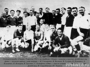Состав команды «Старт» 9 августа 1942 г. на стадионе «Зенит»: киевляне в красных