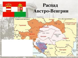 Распад Австро-Венгрии В результате революций в Австрии и Венгрии соответственно