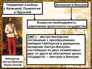 1867 г. - австро-венгерское соглашение о преобразовании империи Габсбургов в дву