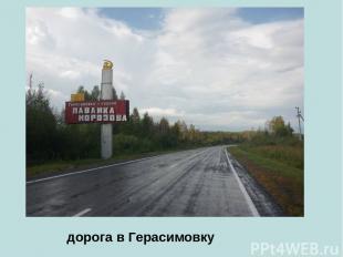дорога в Герасимовку