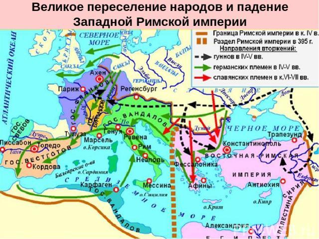 Великое переселение народов и падение Западной Римской империи