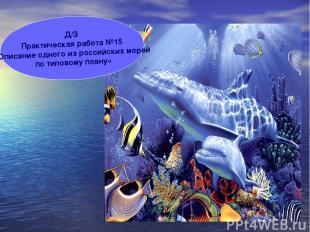Д/З Практическая работа №15 «Описание одного из российских морей по типовому пла