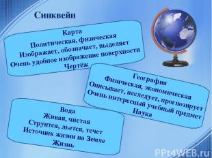 Синквейн Карта Политическая, физическая Изображает, обозначает, выделяет Очень у