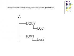 Дано дерево каталогов. Определите полное имя файла Doc3.