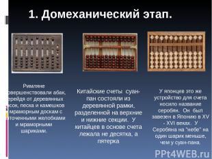 Римляне усовершенствовали абак, перейдя от деревянных досок, песка и камешков к